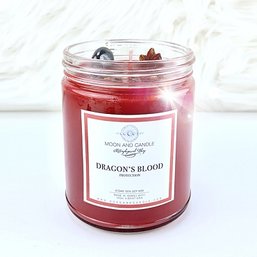 Dragon's Blood Protection Crystal Candle